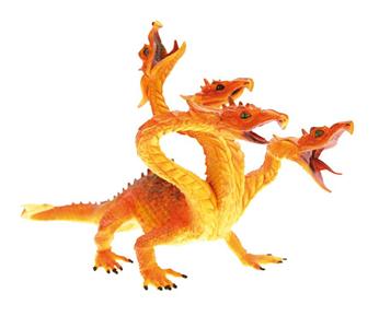 Giocattolo Dragons. Drago hydra rosso fuoco Plastoy 1