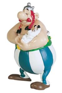 Giocattolo Asterix. Obelix con Idefix Plastoy 1