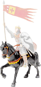 Giocattolo Cavalieri: Cavallo di Guglielmo il Conquistatore Plastoy 1