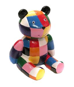 Giocattolo Elmer. Orso multicolore Plastoy 1