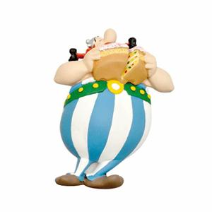 Giocattolo Asterix. Calamita Obelix con la torta Plastoy 1
