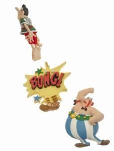 Giocattolo Asterix. Set di 3 calamite Obelix Plastoy 1