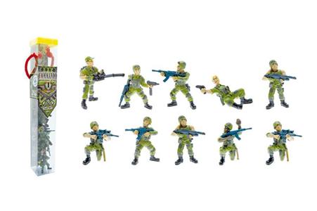 Giocattolo Tubo Commando Operazione Giungla 10 Personaggi Plastoy 1