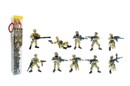 Giocattolo Tubo Commando Operazione Deserto 10 Personaggi Plastoy 1