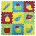 Giocattolo Tappeto Puzzle Frutta 9 Pezzi Ludi 1