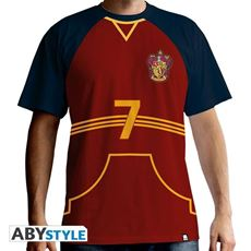 Idee regalo Harry Potter. T-shirt Quidditch Jersey Man Ss Red. Premium Large Abystyle