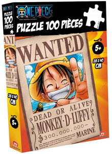 Giocattolo Puzzle One Piece. Wanted Rubber 100 pezzi Obyz 2