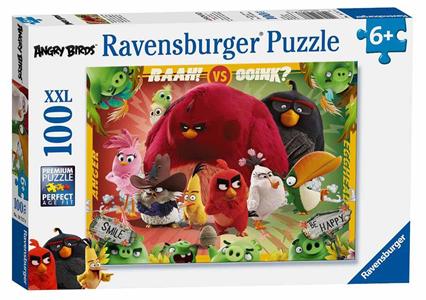 Giocattolo Puzzle XXL 100 pezzi Angry Birds. Uccelli contro Maiali Ravensburger 1