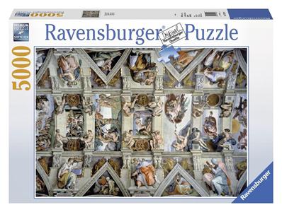 Giocattolo Puzzle 5000 pezzi Michelangelo Buonarroti La Cappella Sistina Ravensburger 2