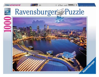 Giocattolo Puzzle 1000 pezzi Skyline di Singapore Ravensburger 2