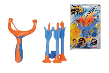 Giocattolo X-Power. Set Fionda 17 cm con 3 Dardi a Ventosa 15 cm Simba Toys 2