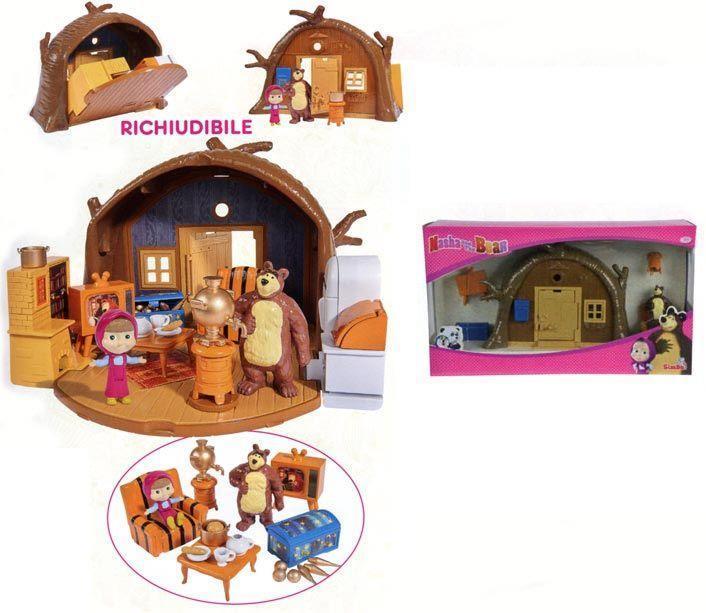 Masha e orso playset casa orso richiudibile con for Masha giocattolo
