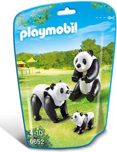 Giocattolo Playmobil Zoo Famiglia di Panda (6652) Playmobil 3