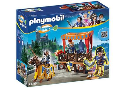 Giocattolo Playmobil Super 4. Tribuna Reale con Alex (6695) Playmobil 4