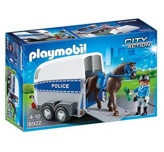 Giocattolo Playmobil Poliziotta a Cavallo con Rimorchio (6922) Playmobil 5