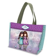 Cartoleria Shopper Bag 42x28x14,5 Cityscape Friends Walk Together Gorjuss