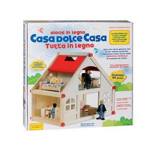 Giocattolo Casetta Legno con Personaggi + Mobili Ronchi Supertoys 2