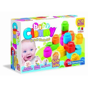 Giocattolo Clemmy 12 Soft Blocks Set Clementoni 1