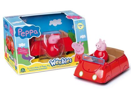 Giocattolo Peppa Pig. Weebles. Macchina sempre in piedi Giochi Preziosi 1
