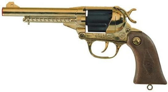 Giocattolo Pistola Nevada Metal Oro 12 Villa Giocattoli 1