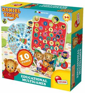 Giocattolo Daniel Tiger. Educational Multigames Lisciani 2