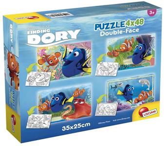 Giocattolo Puzzle Double-Face Super 4 x 48 pezzi Alla ricerca di Dory Lisciani 2