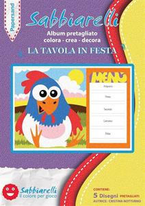 Cartoleria Album 5 disegni Papersand. La Tavola in festa Sabbiarelli Sabbiarelli 7