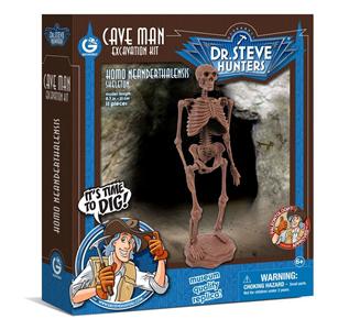 Giocattolo Cave Man Excavation Kit. Homo Neanderthalensis Skeleton Geoworld 1