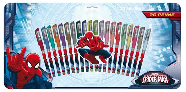 Giocattolo Penne Gel Set 20 Pz Spiderman Auguri Preziosi 1