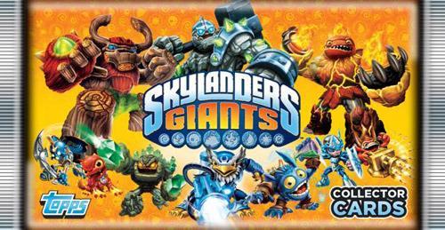 Giocattolo Skylanders Giants buste Topps 2